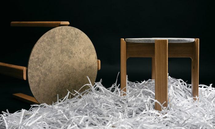 České ekologické stolky PapeerStack mají desky ze slisovaného papíru aplastu