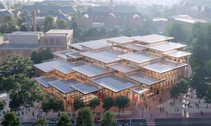 BIG postaví ze dřeva askla studentské centrum pro Johns Hopkins University