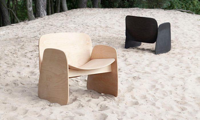 Filip Krampla navrhl dřevěné křeslo Li Chair maximalizující využití jednoho stromu