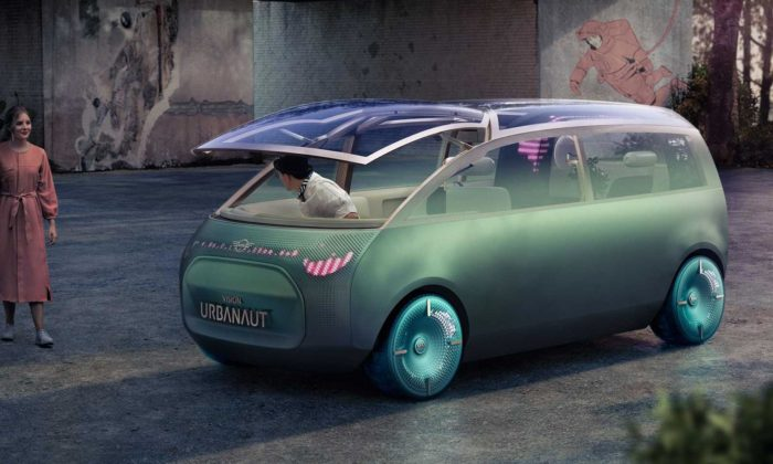Mini Vision Urbanaut jevize městského vozu přizpůsobující seaktuální cestě