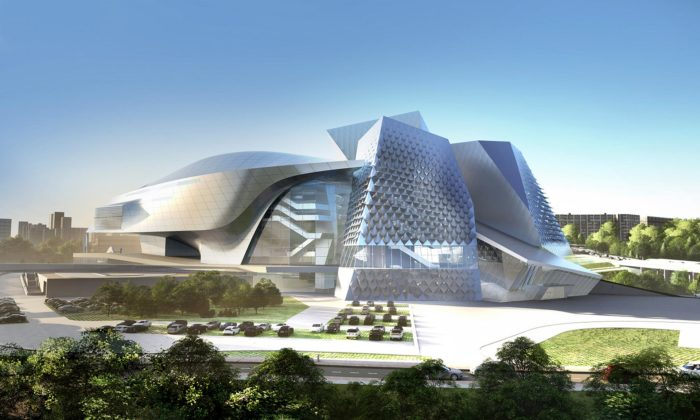 Ruské město Kemerovo postaví futuristický komplex smuzeum adivadlem