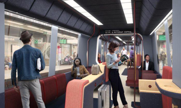 Mecanoo navrhlo pro Rotterdam útulný amodulární interiér vozů metra