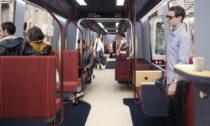Interiér metra v Rotterdamu od Mecanoo