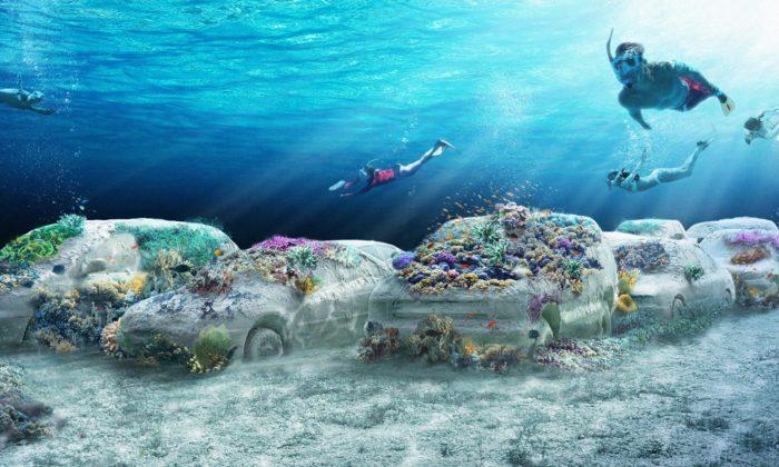 U pobřeží Miami Beach vzniká podmořský sochařský park ReefLine
