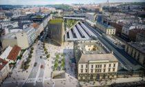 Finální podoba projektu okolo Masarykova nádraží v Praze od Zaha Hadid Architects
