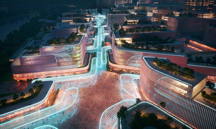 Zaha Hadid Architects postaví futuristickou čtvrť Huanggang Port Area