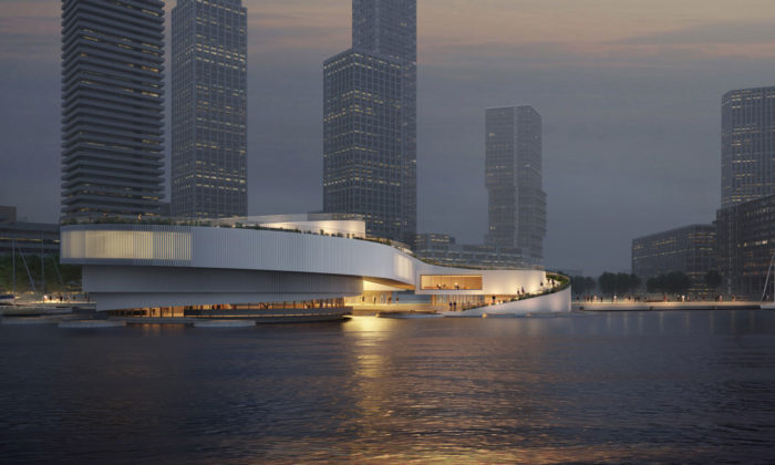 Mecanoo postaví vpřístavu vRotterdamu námořní centrum odhalující sepřiodlivu