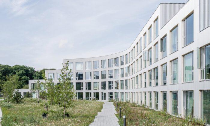 Aarhus postavil studentům koleje obložené dřevem asvýhledem dozeleně