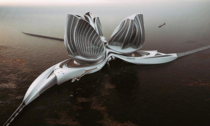 Slovenka navrhla futuristickou plovoucí stanici čistící oceán ododpadu