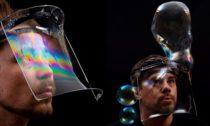 Mýdlový štít Soap Mask od studia Aerosoap