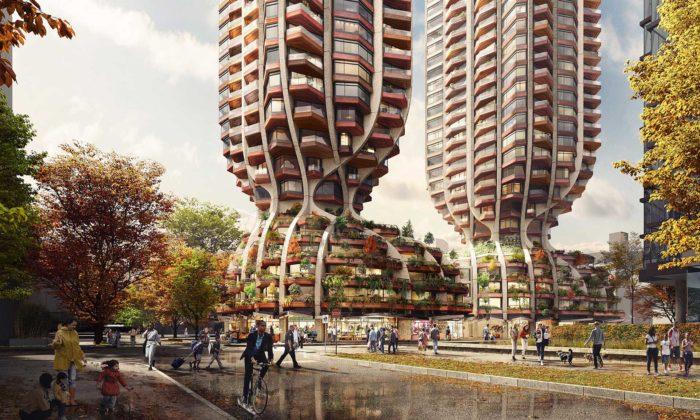 Heatherwick postaví veVancouveru dvě bytové věže sdesignem inspirovaným přírodou