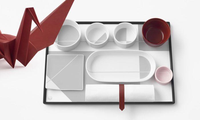 Nendo navrhlo cestujícím sJapan Airlines vybavení inspirované jeřábem zorigami