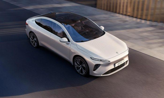 Nio ukázalo samořídící sedan saerodynamickým tvary a23 reproduktory