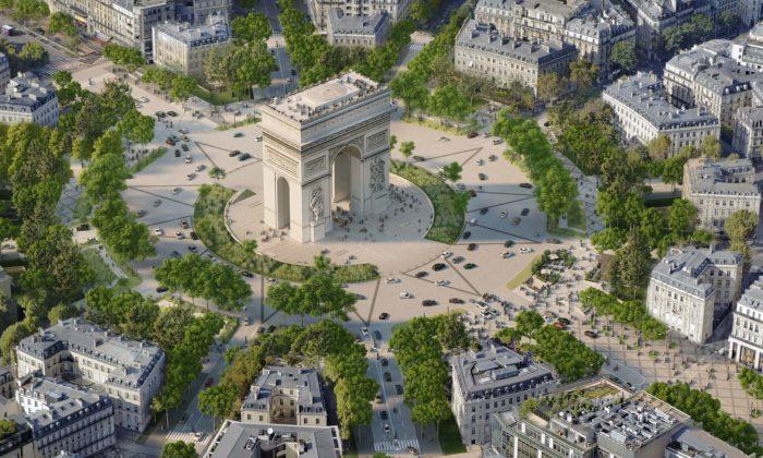 Paříž promění bulvár Champs-Élysées nazahradu apostaví bazén naSeině