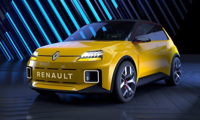 Renault 5 sevrací jako elektrický koncept smladistvým designem aretro nádechem