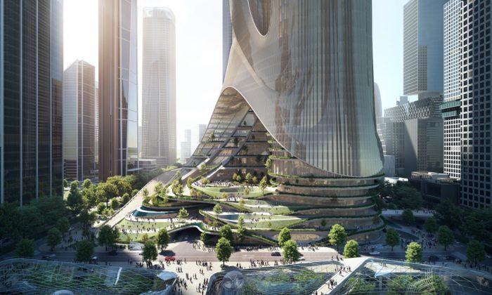 Zaha Hadid Architects postaví organicky tvarované věže sparkem čistícím vzduch