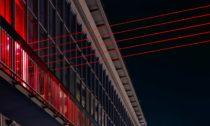 Laserová projekce Barrier v belgickém Ostende od SpY