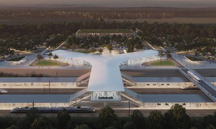 Za Prahou vyroste terminál vysokorychlostní železnice podle návrhu OV-A