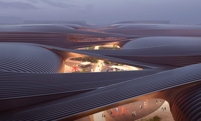 Zaha Hadid Architects postaví vPekingu organicky tvarované výstaviště