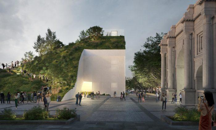 MVRDV postaví vlondýnském Hyde Parku zelený kopec svyhlídkou naměsto