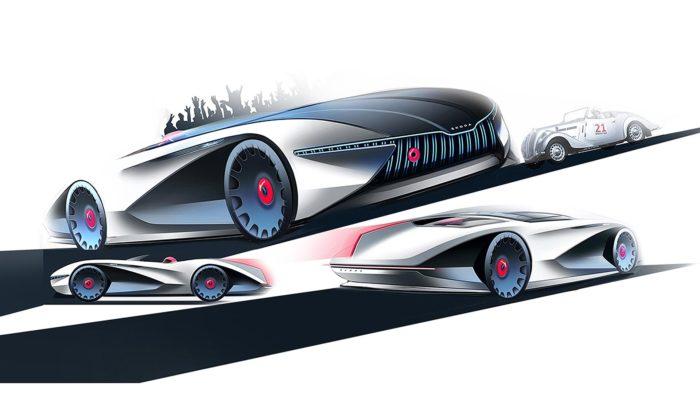 Designér ze Škoda Auto navrhl futuristický roadster inspirovaný modelem Popular