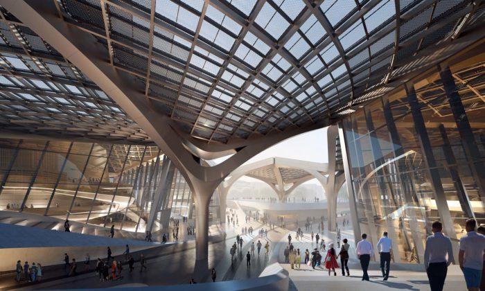 Čína staví futuristické kulturní centrum podle návrhu Zahy Hadid