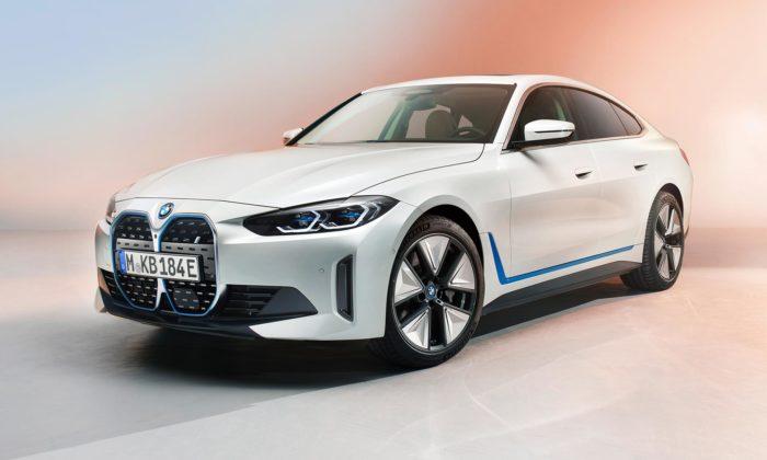 BMW i4 jeprodukční verze čistě elektrického 4dveřového Gran Coupé