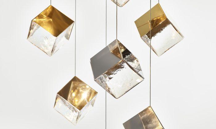 Dechem navrhlo pro sklárnu Bomma minerálem inspirované svítidlo Pyrite
