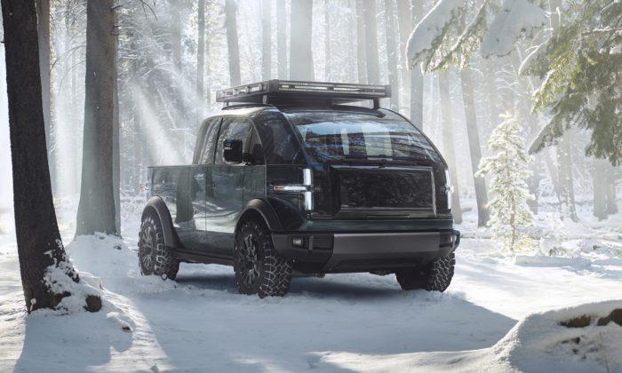 Canoo ukázalo stylový elektrický Pickup schopný proměnit senakaravan