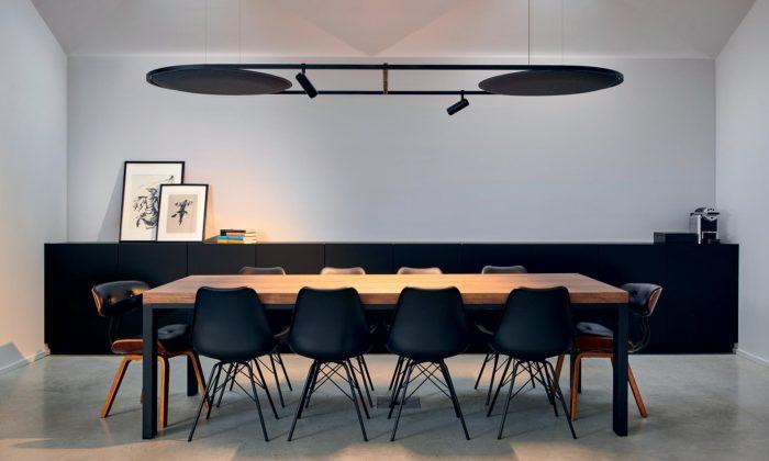 UNStudio aDelta Light navrhli svítidlo Soliscape sintegrovanými akustickými panely