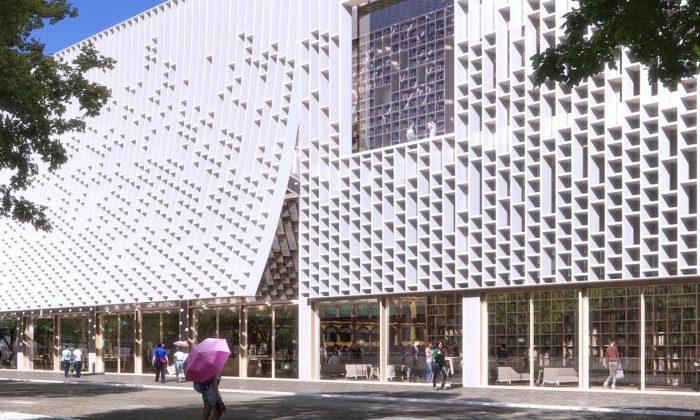 Mecanoo postaví vMacau centrální knihovnu sfasádou ze stovek polic