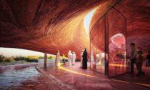 Návštěvnické centrum rezervace plameňáků vAbu Dhabi odateliéru Petr Janda Brainwork