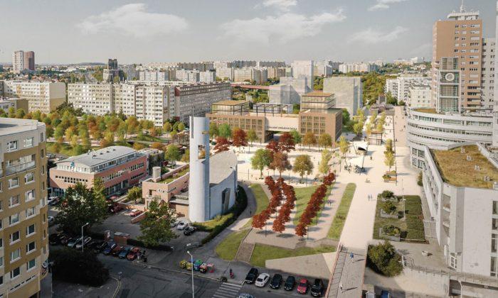 Zanedbané pražské Sluneční náměstí sepromění avznikne zde pěší korzo