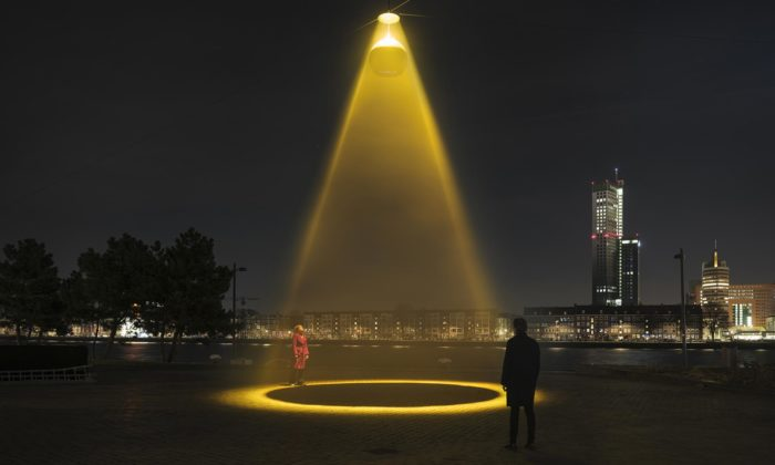 Daan Roosegaarde navrhl Urban Sun čistící veřejné prostory odkoronaviru
