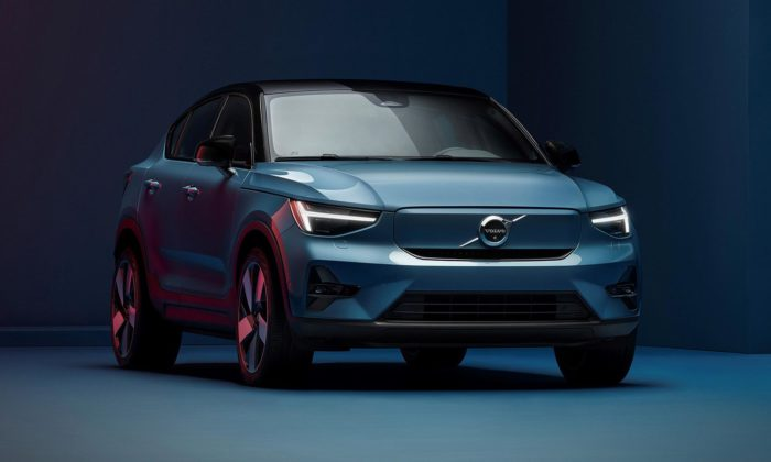Volvo C40 Recharge jenové SUV kupé aprvní čistě elektrický model značky
