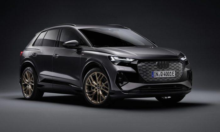 Audi Q4 e-tron jeelektrické SUV skompaktními rozměry avýrazným designem