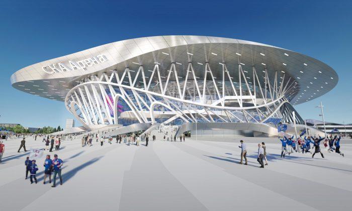 Coop Himmelblau postaví vPetrohradě sportovní arénu sesci-fi designem
