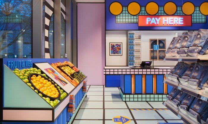 Londýnské Design Museum otevřelo malý supermarket vestylu 80.let