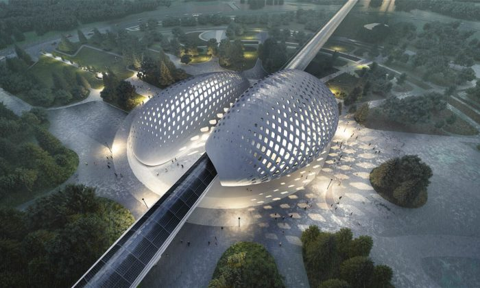 HyperloopTT ukázal udržitelný afuturistický design stanic pro hyperloop