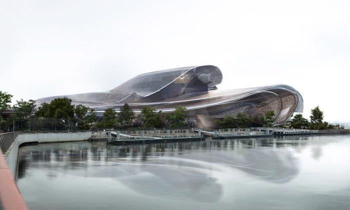 Jean Nouvel postaví vShenzhenu futuristický operní dům sperleťovou fasádou