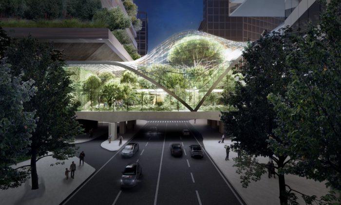 V centru Milána vyroste obří skleník fungující jako most nad rušnou silnicí