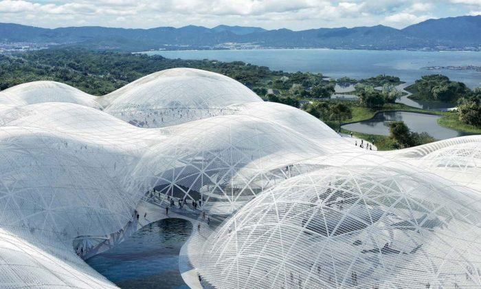 SANAA postaví vShenzhenu námořní muzeum vetvaru obřího bílého mraku