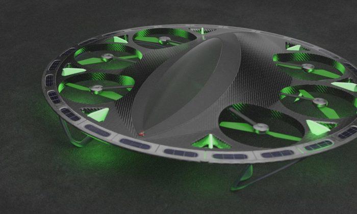 Skyrider jeosobní autonomní letoun připomínající svým designem létající talíř