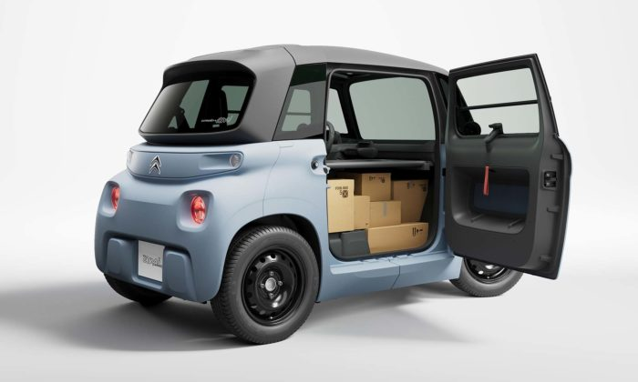 Citroën představil miniaturní dodávku My AMI Cargo pro doručování balíků ijídla