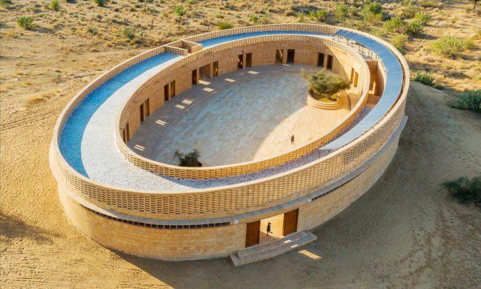Diana Kellogg postavila vIndii zmístního pískovce dívčí školu stvarem oválu
