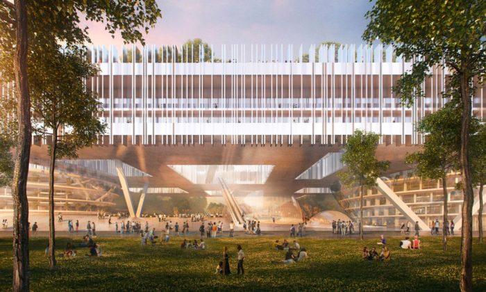 Dominique Perrault postaví 700 metrů dlouhé inovační adesignérské centrum