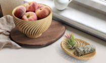 Kolekce 3Dtištěných mís a váz Vine od FuseProject