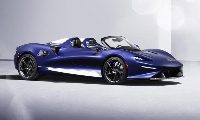 McLaren Elva jenová limitovaná edice supersportu bez střechy ibočních skel