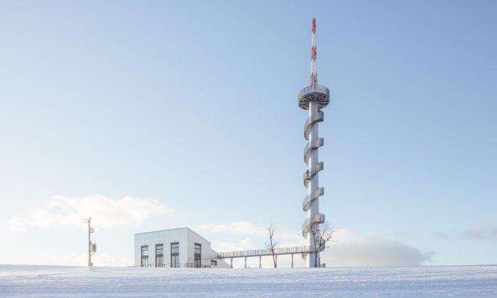 Z bývalé větrné elektrárny navýchodočeském vrchu Šibeník sestala moderní rozhledna