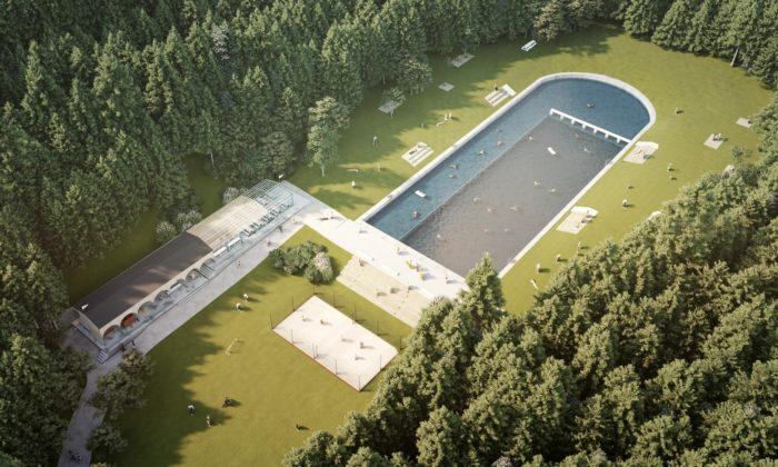 Lesní koupaliště vLiberci dostane novou budovu plovárny podle návrhu Mjölk